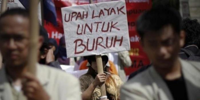Para Buruh Protes Tidak Ada Kenaikan UMP Sumsel Saat Pandemi Covid-19